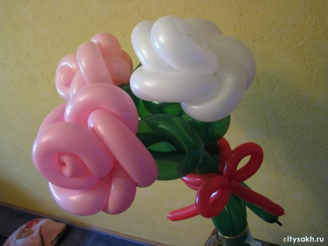 Цветок из шариков своими руками фото