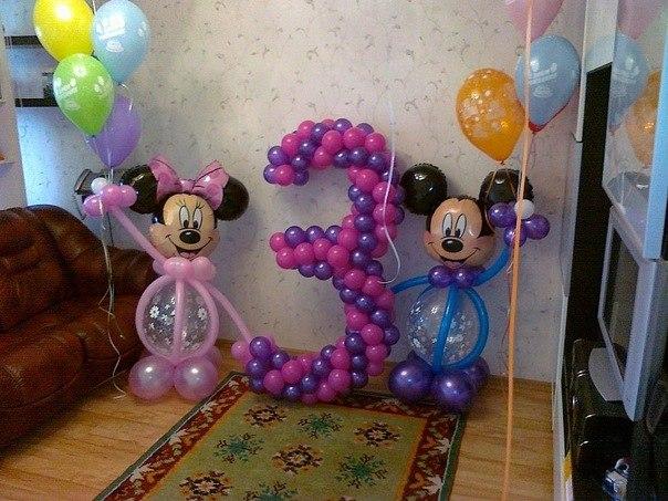 Шары на день рождения с доставкой, фигурки из шариков, цифры 68