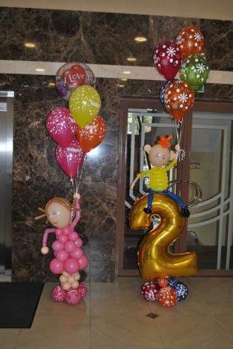 Композиции из шариков на день рождения своими руками